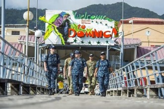 150728-N-XQ474-052  ROSEAU, Dominica (July 28, 2015) Sailors assigned to the Military Sealift Command hospital ship USNS Comfort (T-AH 20) walk down the pier as they return to Comfort during Continuing Promise 2015. Continuing Promise is a U.S. Southern Command-sponsored and U.S. Naval Forces Southern Command/U.S. 4th Fleet-conducted deployment to conduct civil-military operations including humanitarian-civil assistance, subject matter expert exchanges, medical, dental, veterinary and engineering support and disaster response to partner nations and to show U.S. support and commitment to Central and South America and the Caribbean. (U.S. Navy photo by Mass Communication Specialist 3rd Class Andrew Schneider/Released)