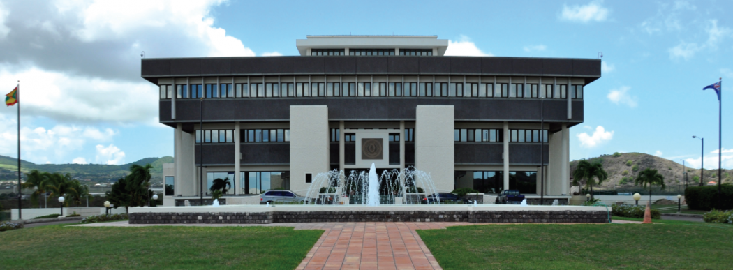 Headquarters of the Eastern Caribbean Central Bank (ECCB) in St. Kitts